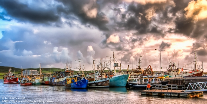 The_fishing_fleet_in_dingle-ed